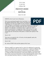 Preston's Heirs v. Bowmar, 19 U.S. 580 (1821)
