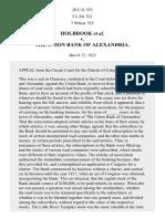 Holbrook v. Union Bank of Alexandria, 20 U.S. 553 (1822)