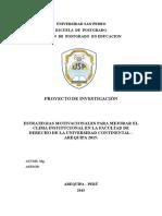 Modelo de Proyecto de Investigacion Cuasiexperimental 2015