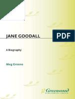 Meg Greene - Jane Goodall a Biography