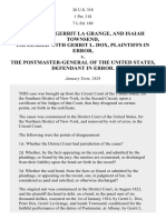 DOX v. the Postmaster-General, 26 U.S. 318 (1828)