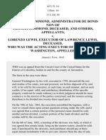 George W. Hammond v. Lorenzo Lewis, 42 U.S. 14 (1843)
