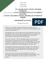 Duncan Linton v. Frederick Stanton, 53 U.S. 423 (1852)