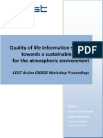 Quality of life information services towards a sustainable society for the atmospheric environment