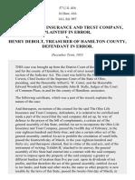 Ohio Life Ins. & Trust Co. v. Debolt, 57 U.S. 416 (1854)
