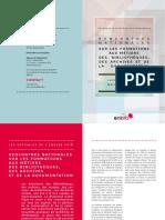 Rencontres nationales sur les formations aux métiers des bibliothèques, de la documentation et des archives