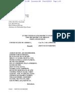 04-28-2016 ECF 488 USA v A BUNDY et al - Joint Status Report Filed by Ryan Payne
