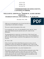 The Board of Commr's of Knox County v. Aspinwall, 65 U.S. 376 (1861)
