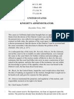 United States v. Knight's Administrator, 66 U.S. 488 (1862)