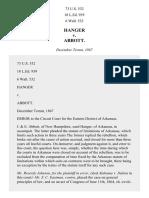 Hanger v. Abbott, 73 U.S. 532 (1868)