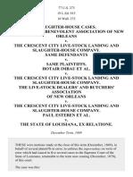 BUTCHERS'BENEVOLENT ASSOCIATION v. Crescent City Live-Stock Landing and Slaughter-House Co., 77 U.S. 273 (1870)