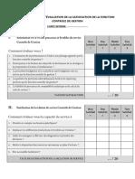 Questionnaire Satisfaction Client