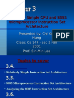 8085 Microprocessor Instruction Set Architecture