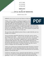 Tiffany v. National Bank of Mo., 85 U.S. 409 (1874)
