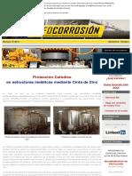 Protección Catódica en estructuras metálicas mediante cintas de zinc