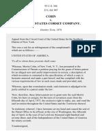 Cohn v. United States Corset Co., 93 U.S. 366 (1876)