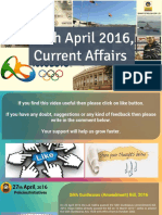 27 April 2016 Current Affair for Competition Exams