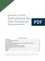 Einleitung in Das Alte Testamten - Lernzusammenfassung