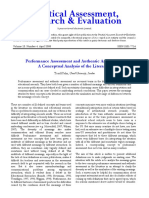 Performance Assessment and Authentic Assessment_ a Conceptual Analysis of the Literature