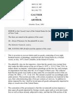 Gautier v. Arthur, 104 U.S. 345 (1881)