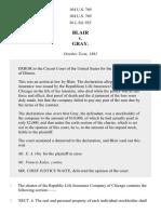 Blair v. Gray, 104 U.S. 769 (1882)