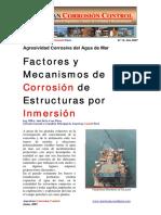 Factores y Mecanismos de Corrosion de estructuras por inmmersión