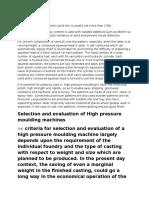 high pressure moulding