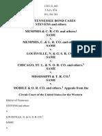 Tennessee Bond Cases Stevens v. Memphis & C. R. Co., 114 U.S. 663 (1885)