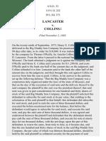 Lancaster v. Collins, 115 U.S. 222 (1885)