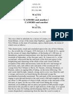 Watts v. Camors, 115 U.S. 353 (1885)
