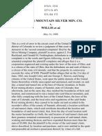 Glacier Mountain Silver Mining Co. v. Willis, 127 U.S. 471 (1888)
