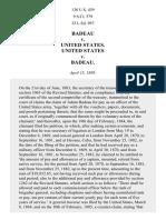 Badeau v. United States, 130 U.S. 439 (1889)