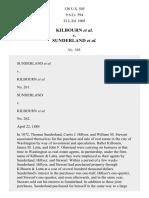 Kilbourn v. Sunderland, 130 U.S. 505 (1889)