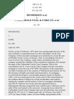 Henderson v. Carbondale Coal & Coke Co., 140 U.S. 25 (1891)