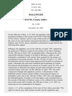 Hallinger v. Davis, 146 U.S. 314 (1892)