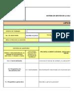 Listas de Verificación Iso 9001-2008