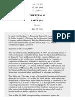 Porter v. Sabin, 149 U.S. 473 (1893)
