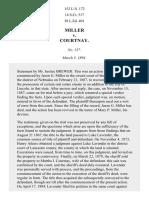 Miller v. Courtnay, 152 U.S. 172 (1894)