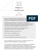 Stokes v. United States, 157 U.S. 187 (1895)