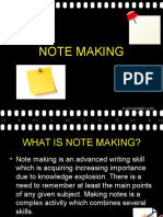 Note Making