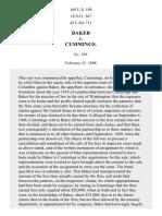 Baker v. Cummings, 169 U.S. 189 (1898)