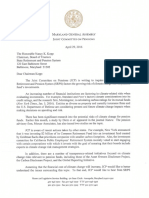 Climate Change - Letter from the Joint Committee on Pensions to the Chair of the Pension Board of Trustee