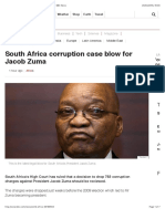 South Africa Corruption Case Blow for Jacob Zuma - BBC News