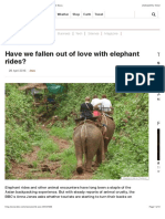 Have We Fallen Out of Love With Elephant Rides? - BBC News