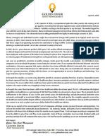 Golden Door Asset Management's Q1 2016 Shareholder Letter