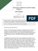 Mutual Life Ins. Co. of NY v. Cohen, 179 U.S. 262 (1900)