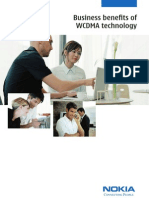 Business Benefits of Wcdma Technology