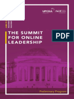 Summit for Online Leadership 2016 Preliminary Program