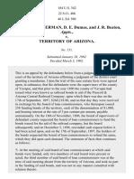 Schuerman v. Arizona, 184 U.S. 342 (1902)