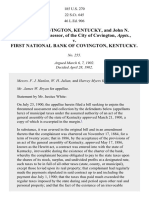 City of Covington, Kentucky, and John N. Middendorf, Assessor, of the City of Covington, Appts. v. First National Bank of Covington, Kentucky, 185 U.S. 270 (1902)